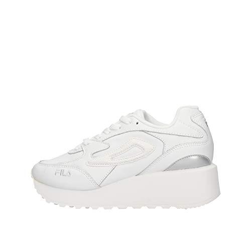 Zapatos de Mujer Sneakers FILA DOROGA Zeppa WMN en Cuero Blanco 10110898.93E