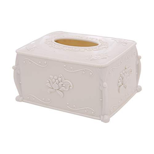 TOOGOO Boite a mouchoirs en bois style europeen Home Tissue Conteneur Serviette Serviette Tissu Holder Case pour bureau decoration de la maison