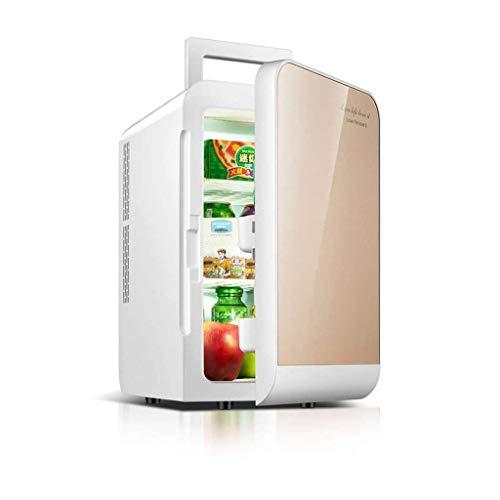 DX Mini-Kühlschrank, kompakt, 20 l, für 27 Dosen à 330 ml, ideal für Reisen und Camping (Farbe: Silber) goldfarben