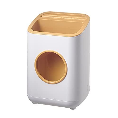 WJLED Portacuchillas Desmontable, portacuchillas multifunción, protección separada, diseño de Drenaje, Apto para Cocina,Naranja