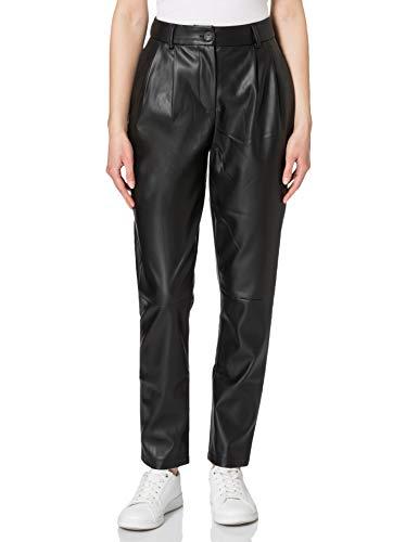 Vero Moda VMSOLAHOLLY XHW Coated Pant Boos Pantaloni, Black, S Donna