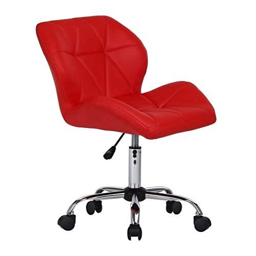 Furniture stool/lazy stoelen voor volwassenen, eenvoudige inrichting, bureaustoelen, computerstoel, draaistoel met PU-leer, in hoogte verstelbaar van 17 tot 22 inch B