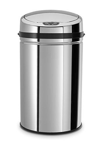 Echtwerk EW-AE-0210 Edelstahl Abfalleimer 30L mit IR Sensor, Inox