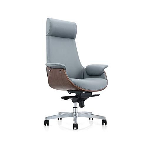 HMBB ARBETSSTOLAR Home Office Arbetsstolar Managerial Stolar verkställande stolar Möbler Mid-Back Black Executive Swivel Office karmstol (Size : High back cowhide)