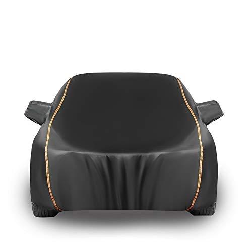 Car Covers Autoplane Autoabdeckung kompatibel mit Ford Fiesta,Autohülle Autogarage Vollgarage Hagelschutz Staubdicht Wasserdicht Autohülle Autoplane Sonnenschutz (Color : Black, Size : Hatchback)