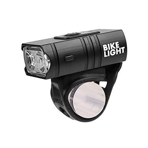 Luci Bicicletta LED, Faro per Bici a Doppio LED da 1000 Lumen con Luci di Posizione a Fascio Largo...