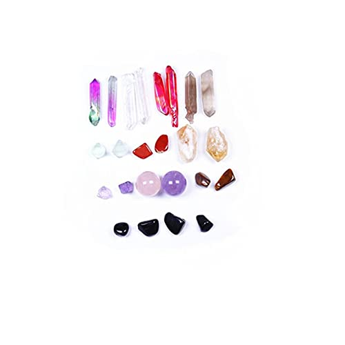 ZHQHYQHHX Natural Quartz Mixed Crystal Gravel Colorful Mineral Specimens Healing Gems Creative Gift Home Decor 1 Set Stone