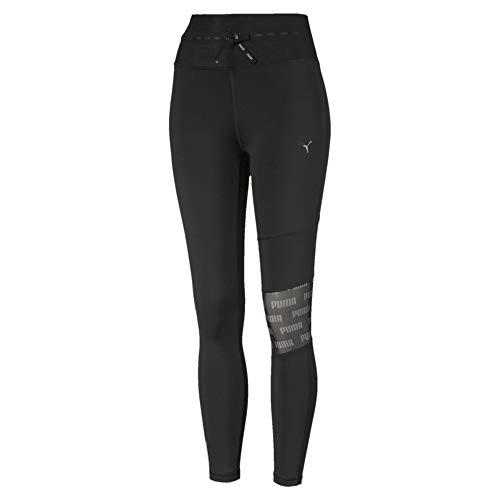 PUMA Damen Leggings Feel It Mesh 7/8 Tight, Black, M, 518934