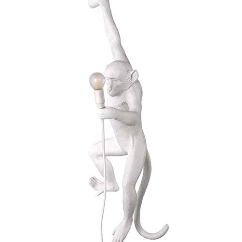 Nordic Kreative Industrie Wind Seil Affe Lampe Loft Wohnzimmer Esszimmer Schlafzimmer Bekleidungsgeschäft Harz Wandleuchte (Color : White)