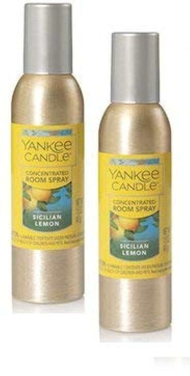 場合ノイズ苦Yankee Candle 2パックSicilian Lemon Concentrated Room Spray 1.5オンス