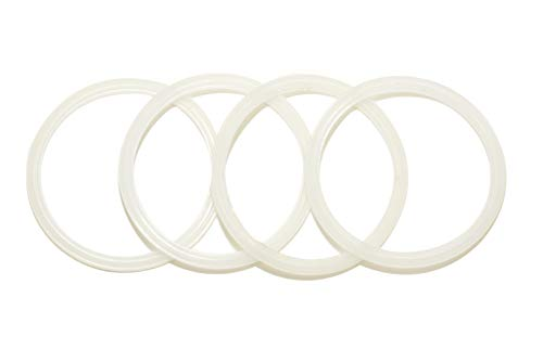 4 Pack New OEM Replacement White Rubber Seals, fits 14 and 30 Ounce Stainless Steel Tumbler Lids from Yeti RTIC Ozark Trail Atlin Beast