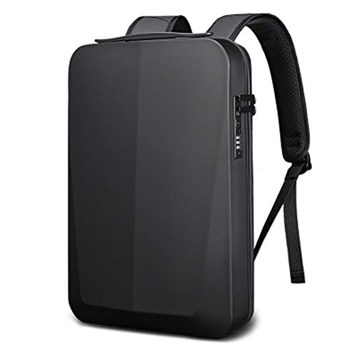 Cobeky Men's Backpack Business Anti-Theft Bag Strong Security Backpack Street Style Simple Laptop Backpack Black