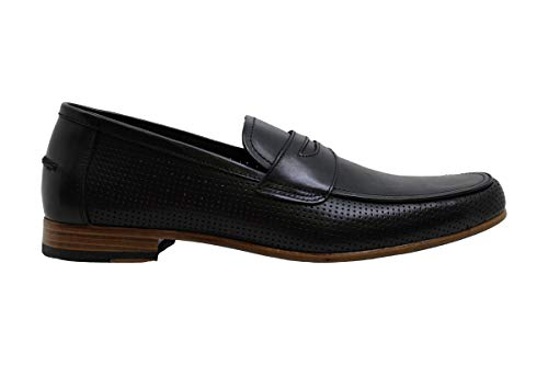 Alfani Men's Alfatech Blaine Penny Loafers, Created for Macy's, Black, Size 12.0