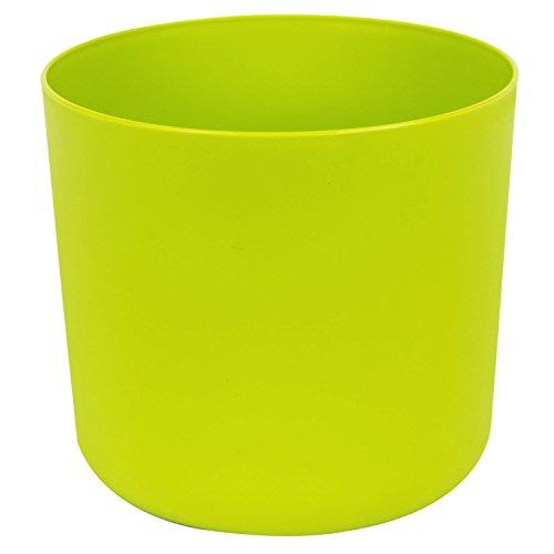 Classique cache-pot en plastique Aruba 25 cm en vert clair couleur