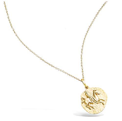 Tata Gisèle © Colgante chapado en oro – Pegaso – Bolsa regalo de terciopelo
