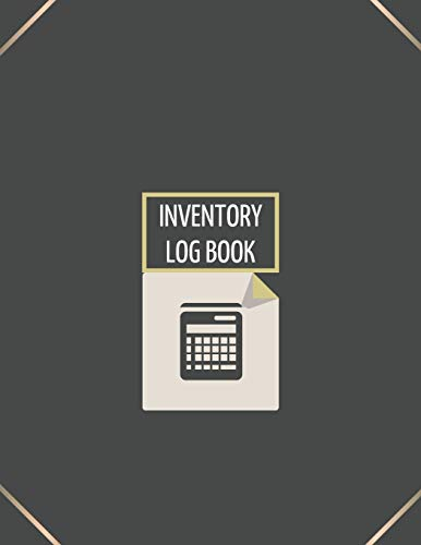 Inventory Log Book: Logbook for Business 110 Numbered Pages | Simple Inventory Tracker | Large (8.5