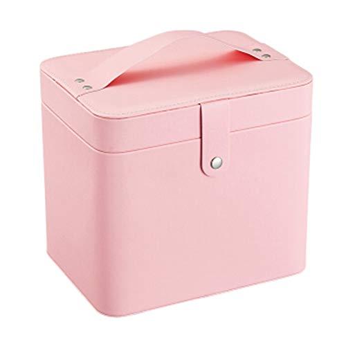 Zhicaikeji Cosméticos Estuche Rosa Organizador Cosméticos Para Tipos De Pequeñas Cosméticos Almacenamiento Con Compartimentos Para Belleza Maquillaje Para Viajes PortBle Bolsa De Almacenamiento