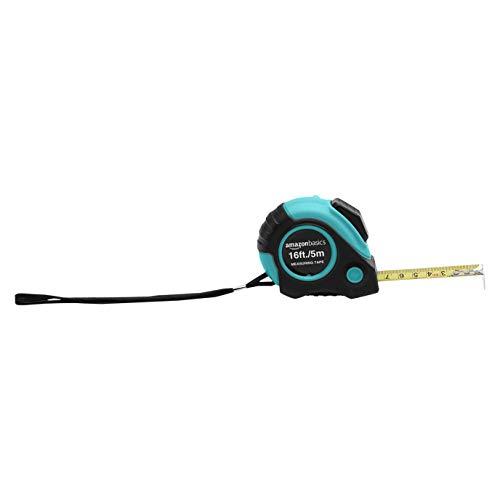Amazon Basics 16-Feet Tape Measure, Turquoise