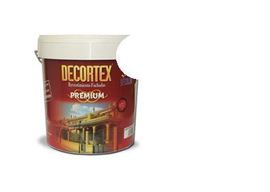 PINTURA FACHADAS 7kg. DECORTEX LISO PREMIUM. Pintura blanca y colores. Pintura ideal monocapa. Pintura lavable. Pintura acrílica al agua. 23 y 7 kg (14 y 4 lt). (blanco 4lt)
