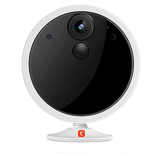 HLSH Tuya Smart WiFi Cámara IP Inalámbrica, 1080p Cámara HD 4800mah Batería Recargable De 2 Vías Audio Audio Inicio Vigilancia Pir Motion Monitor De Bebé, Cámara(Size:Camera+64G)