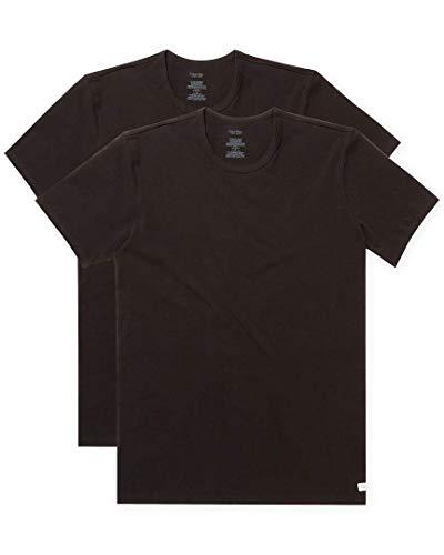 Calvin Klein Men's Cotton Stretch Multipack Crew Neck T-Shirts, Black, Large