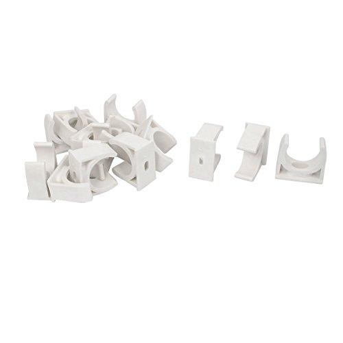 Abrazaderas de manguera de PVC de 3/4' (25 mm) para TV Tubo soporte de suspensión de tubo Pex Tubo, 14 piezas
