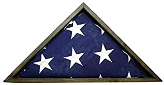 BarnwoodUSA Triangle Flag Display Case Decoration, Home Memorabilia or Memorial Wall Decor