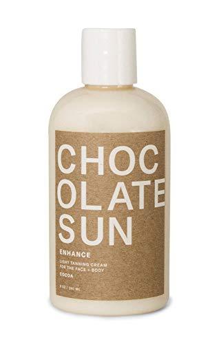 Chocolate Sun - Organic Enhance Light Tanning Cream Face & Body (Light, 8 oz)   Clean, Non-Toxic Sunless Tanning
