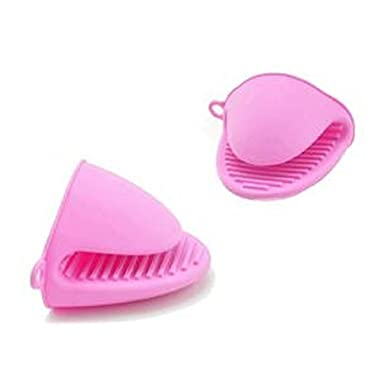 Silicon Oven Mini Mitts, Pot Holder – Pink Pinch Grip - Handy Kitchen Gadget, To Make Cooking And Baking Easier – By Kitch N' Wares