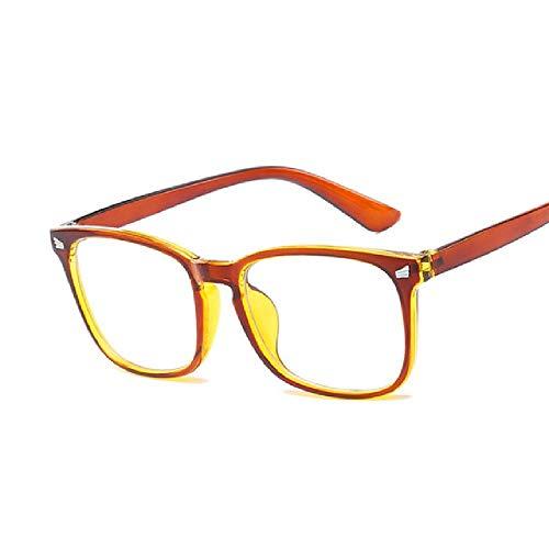 whcct Moda Vintage Rectángulo transparente Gafas Mujer Retro Marco cuadrado Gafas de sol Gafas para mujer