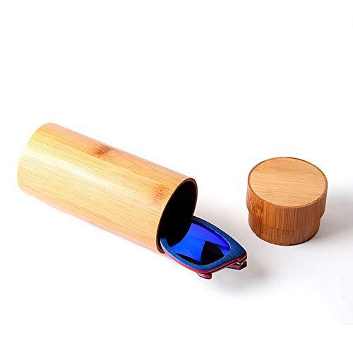 Dfghbn Estuche de almacenamiento para gafas, gafas de sol, funda protectora de madera, protege y almacena para gafas y gafas de sol, unisex, color natural, tamaño: 17 x 6,8 x 0,4 cm.