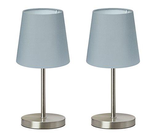 Trango 2er Pack Tischleuchte Nachttischlampe Schreibtischleuchte Lampe 2TG2017-08G