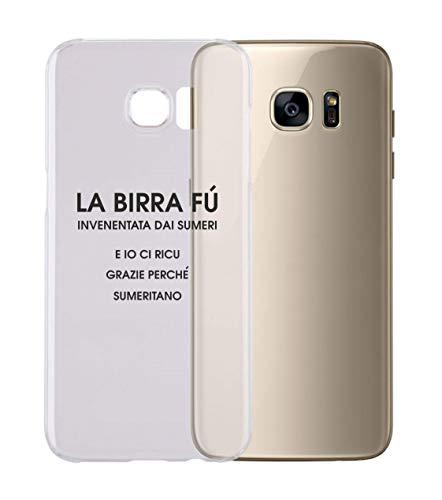 Cover per Tutti Gli Smartphone Samsung s4 s5 s6 s7 s8 S9 - LA Birra - con Protezione della Fotocamera Custodia Trasparente Ultra Sottile