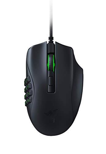 Razer Naga X Wired MMO Gaming Mouse: 18K DPI Optical Sensor - 2nd-gen Razer Optical Switch - Chroma RGB Lighting - 16 Programmable Buttons - 85g - Classic Black