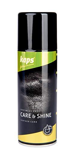 Kaps Spray zur Lederpflege und -politur, Mit Mineral- und Lanolinöl, Für Schuhe, Stiefel, Taschen und Lederwaren, Care & Shine