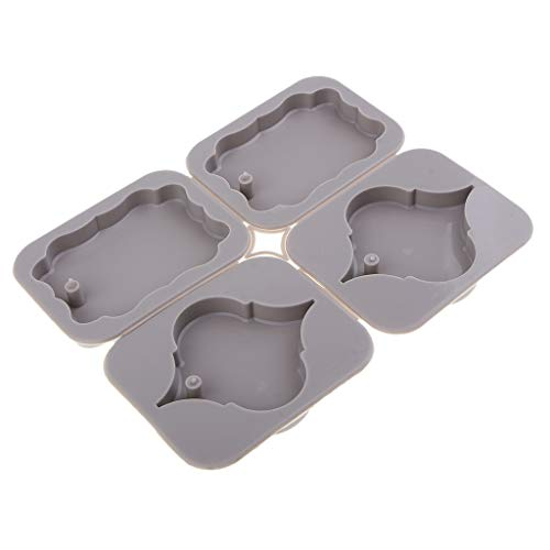 LoveinDIY DIY Aromatherapy Wax Tablets Gypsum Molds Craft Silicone Soap Candle Moulds