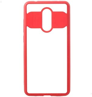 Okteq Cover for Xiaomi Redmi 5 - Clear and Red