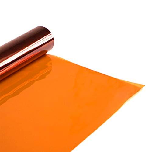 Selens 40x50cm Farbfolie Farbfilter 4 Stück Orange CTO Transparente Farbkorrektur Beleuchtungs Blitz Folien Farbfolien für 800W Rot Licht Stroboskop Taschenlampe Flash Fotostudio Fotografie