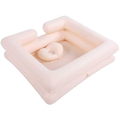HANHJ Portable Inflatable Shampoo Basin Portable Shampoo Bowl Wash Hair Durable Mobile Salon Inflatable Basin for Disabled for Injured Elderly With Pregnant Disabled Beds,A