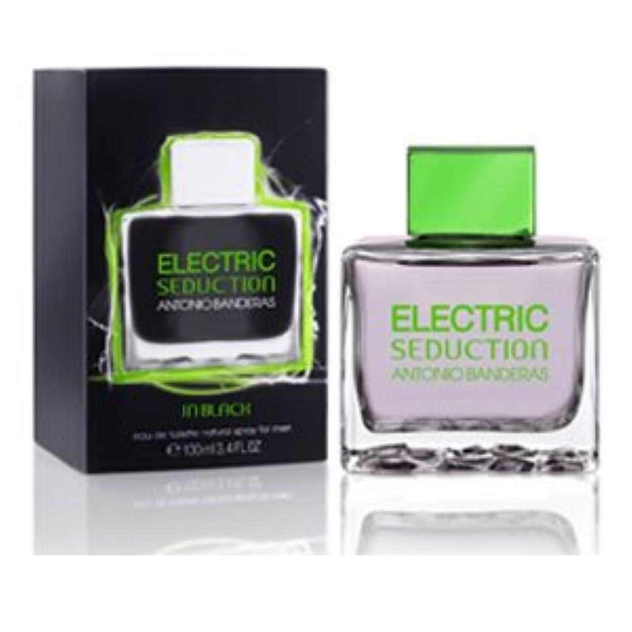 激怒発生する十一Electric Seduction in Black (エレクトリック セダクション イン ブラック) 3.4 oz (100ml) EDT Spray by Antonio Banderas for Men