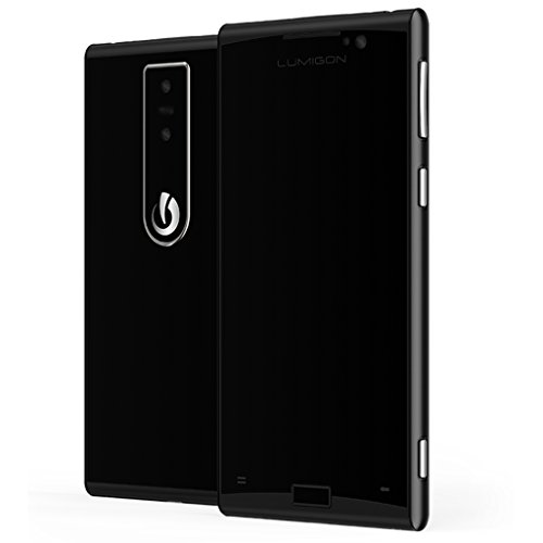 Lumigon T3128GB Edelstahl Dual-SIM Factory Unlocked 4G Smartphone (schwarz/schwarz stahl)–Internationale Version