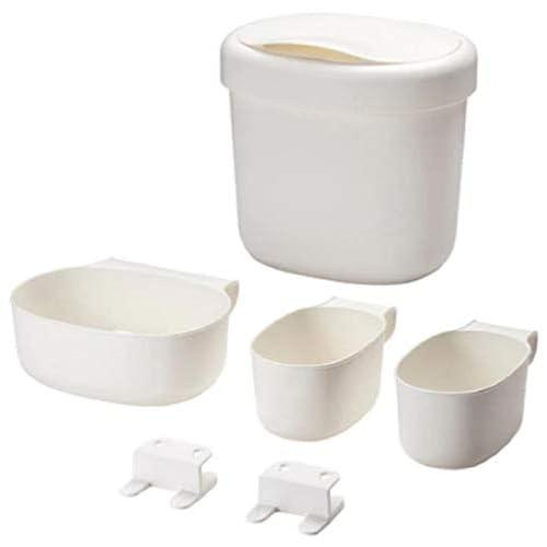 Ikea Önsklig Contenitore per Fasciatoio, Plastica, Bianco, 27x25x21 cm, 4 Unità
