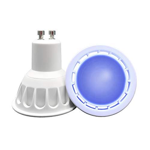 VARICART GU10 COB LED Glühbirne Farbe Blau, 6W MR16 60° Strahlwinkel, 50W Halogen Gleichw.500lm, Spezial Scheinwerfer Glühbirne für Raum, Stimmungs, Dekorative und Festliche Beleuchtung (2er Pack)