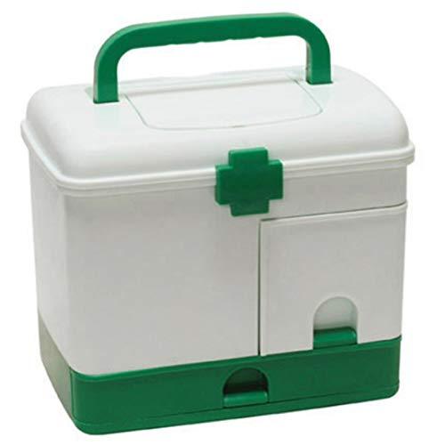 Caja de Medicina Familiar Caja de kit de primeros auxilios Caja de almacenamiento médico Medical Medical Plástico Recopilación de medicamentos Organizador Cajas de almacenamiento Contenedor Caja de Pr