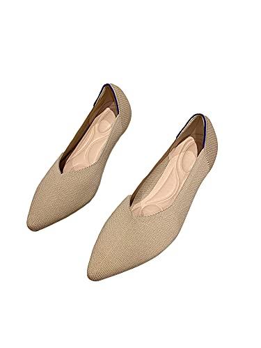 Zapatos de tacón para mujer, zapatos de tacón grueso, zapatos de fiesta, zapatos de tacón, color Beige, talla 43 EU