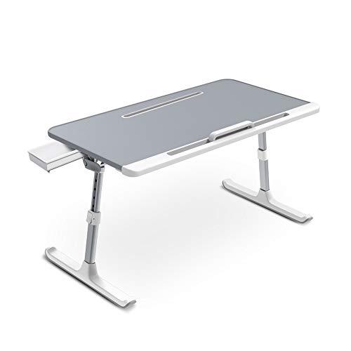 GEVJ staande computerheftafel, werkbank Laptopbureau Opklapbaar bureau Studententafel (zilver)