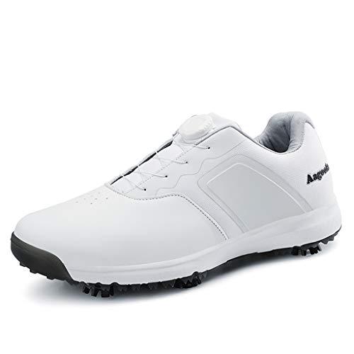 Zapatos de Golf Impermeables para Hombre con Pinchos, Zapatos de Golf Boa
