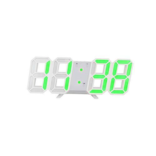 YHYMY Luz de Noche LED 3D Reloj Digital Modo Brillante Brillo Reloj de Mesa electrónico Ajustable Pantalla Reloj Despertador Habitación para niños
