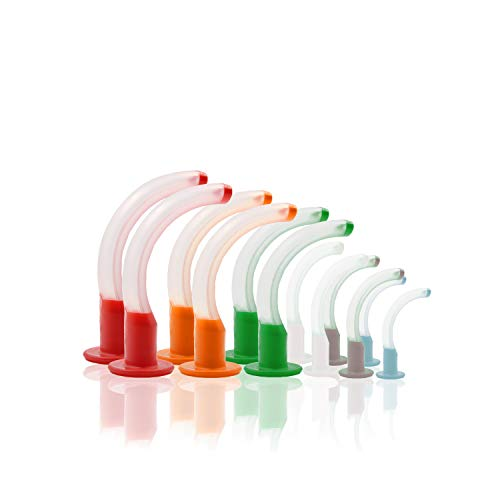 Aurelius Guedel Airways First Aid Medical Oropharyngeal Airway Set Single Use Latex-free FDA Approved Pack With 9PCS