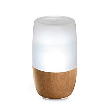 Ellia Reflect Ultrasonic Essential Oil Diffuser with 3 Oil Samples 7 Hours Continuous Runtime Mood Light Sounds and Remote - 150mL Clear